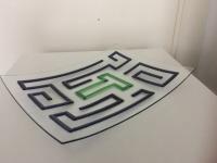 01, bedrijfslogo, glazen schaal met logo