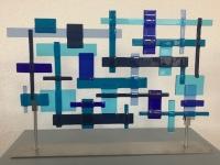 01, glaskunst, blauw, glasobject,