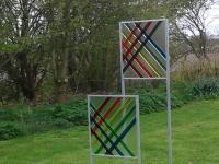 04, Regenboog, glazen tuinbeelden