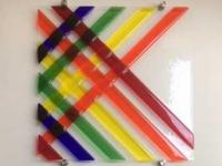 03, glaskunst, wandobject, Regenboog